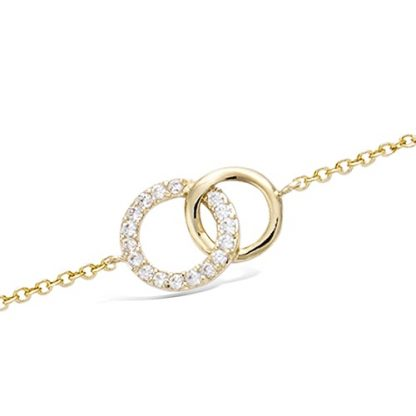 Bracelet or cercle entrelacs