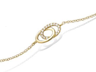 Bracelet or double cercles oxydes