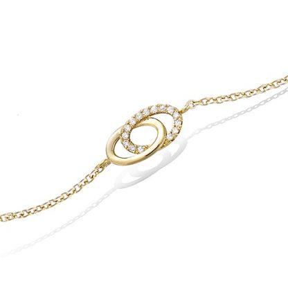Bracelet or double cercles oxydes