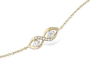 Bracelet or infini deux oxydes
