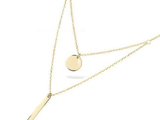 Collier double chaine or ronde