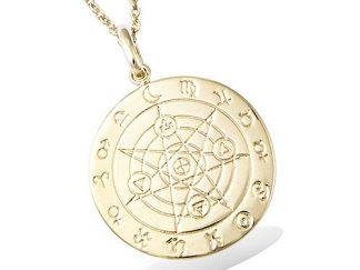 Pendentif or disque astrologique