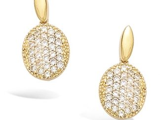 Boucle oreille or ovale oxydes