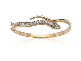 Bracelet jonc or serpent oz