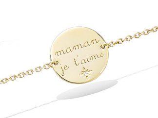Bracelet or pastille Maman Je aime