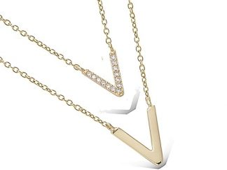 Collier or double rang V oxydes
