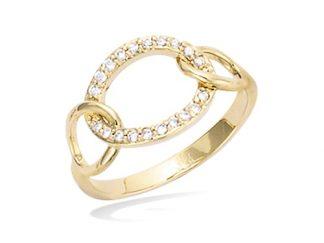 Bague or anneau évidée oxydes
