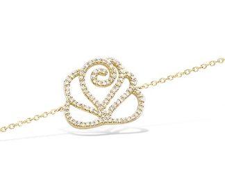 Bracelet or fleur oxydes