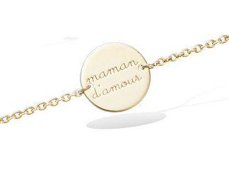 Bracelet or pastille maman d'amour