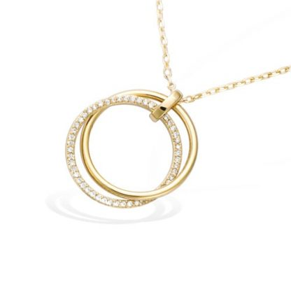 Collier or double cercle oxydes