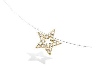 Collier or étoile évidée oxydes