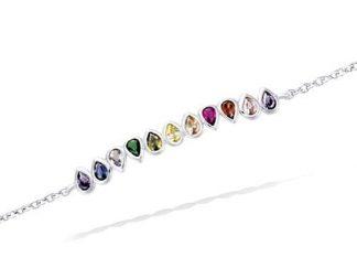 Bracelet argent rainbow