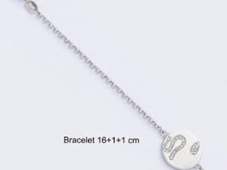 Bracelet argent serpent oxydes