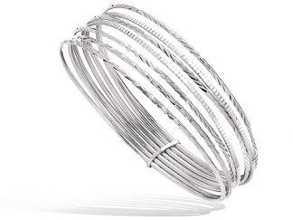 Bracelet argent semainier diamanté
