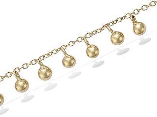 Bracelet or pampilles boules