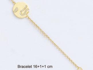 Bracelet or ronde serpent oxydes
