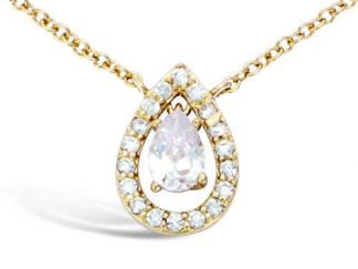 Collier or goutte oxyde blanc