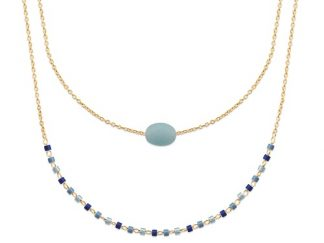 Collier or double rang amazonite