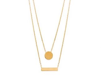 Collier double rang or pastille