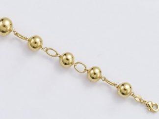Bracelet or neuf boules