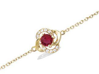 Bracelet or fleur ajouré