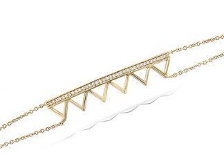 Bracelet or multi triangles oxydes