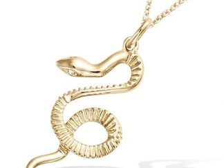 Pendentif or serpent oxydes