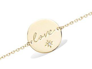 Bracelet or pastille Love cz