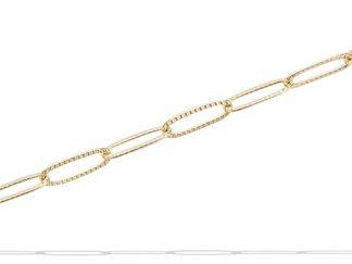 Bracelet or maille cheval texturée